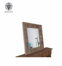 French Style Furniture Mirrored Console Table/Console Table with Mirror (salvaged wooden mirror HL045)