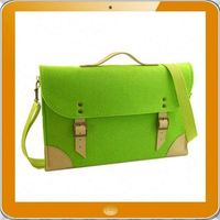 OEM brand high quality 100% Wool felt laptop messenger bag