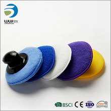 Newest round microfiber applicator pad for car polishing