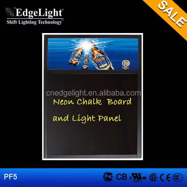 Edgelight PF5 writing menuboard for restaurants , wholesale <strong>light</strong> <strong>boxes</strong> advertising cheap price