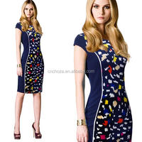 Z57371B new fashion career dress ladies designer office dresses for office women wear