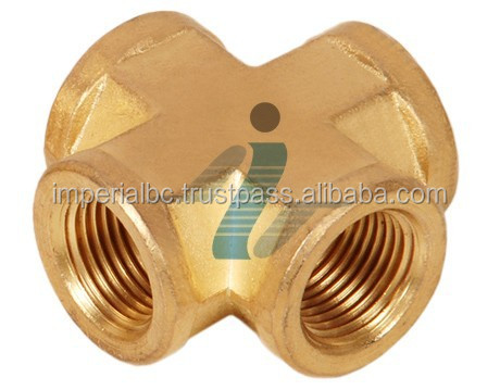 Brass Female Cross in Pipe Fitting