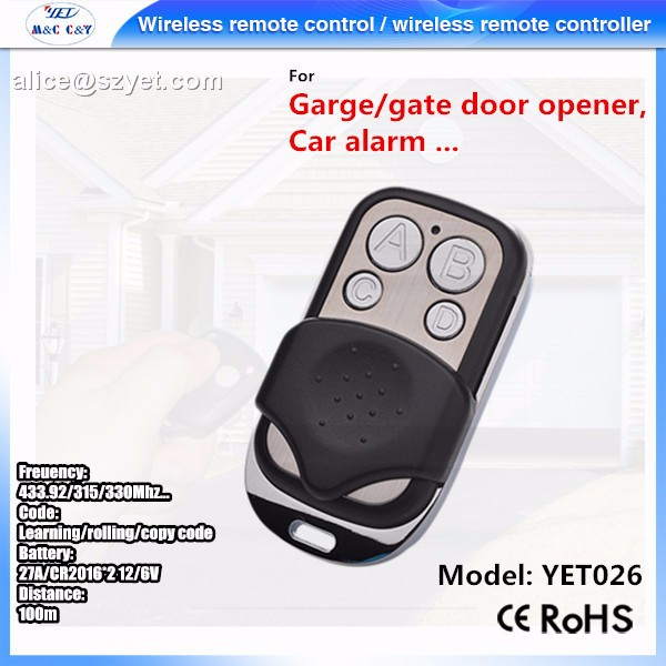 electric garage door/electric gate 433M ABCD remote control