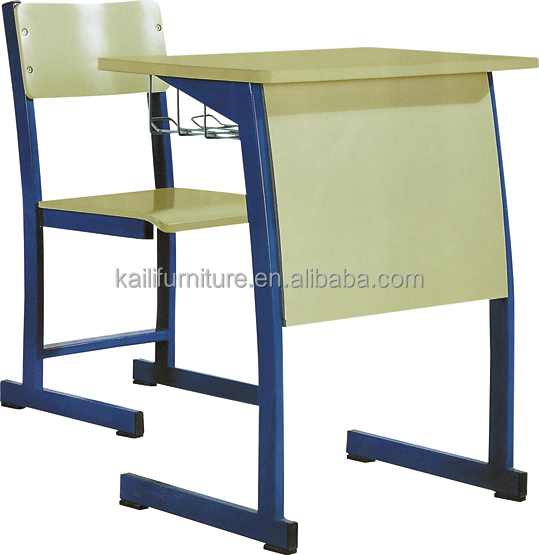 middle school metal frame students desk and chair