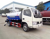 Dongfeng high efficient 4000 liters 4cbm 4m3 vacuum septic fecal suction truck toilet fecal sewage truck for sale in Africa