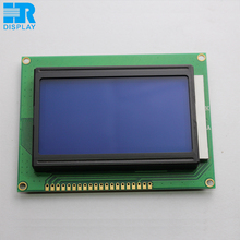 monochrome lcd 12864 lcd display module screen graphic STN blue mode with white backlight ks0108 controller