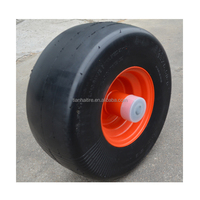 13 x6.50-6 semi pneumatic rubber wheel with smooth tread for zero turn radius commercial mowers