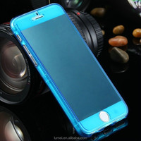 Clear Soft Flip TPU Silicone Case Cover For Apple iPhone 6 4.7""