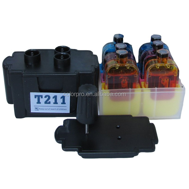 DIY Smart ink refill kit for Canon CL-211 CL-211xl CL-511 Tri-color Ink Cartridges