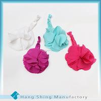 Wholesale Hair Accessories girl 3-ways Chiffon flower ponytail holder