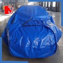 folding PE plastic clear car cover folding garage car cover,flood proof car bag