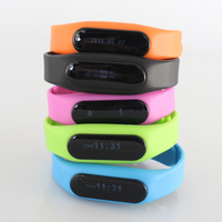 Bluetooth Waterproof Fitness E06 Smart band Tracker Smart Watch with oled touch panel for Mobile Phones