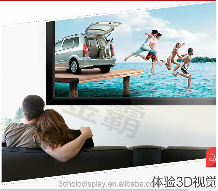2.35:1 3D Projector Screen /3D Silver/Perforated Fixed Projection Screen ,Velvet Border