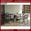 Outdoor Furniture Wholesale Restaurant Furniture Outdoor Leisure Painted Grey Aluminum Dining Table And Chairs