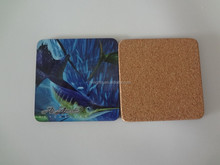OEM Factory - Wood table mat /mdf table mat and coaster / wood cork placemat