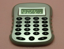 Special shape 8 digit dual power promotional calculator for student