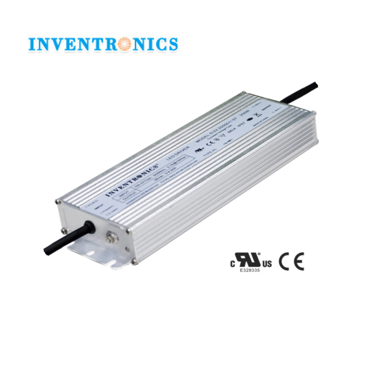 Inventronics 250W 48Vdc Constant Voltage 0-5.2A IP67 Waterproof LED Light Driver Green High Power Switching Supply EUV-250S048ST