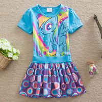 Last design 1-6 years old baby girl dress popular in European