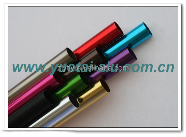 Bright anodized aluminum pipe