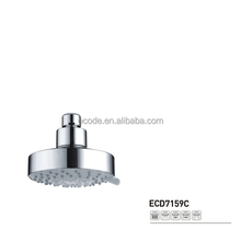 Bathroom faucet top shower head Plastic ABS chrome massage five spray function water saving top head overhead shower