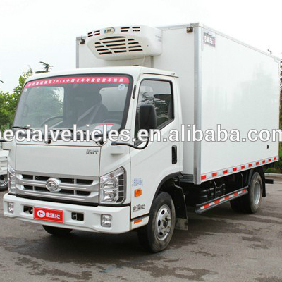 Firm Structure BBQ Meat Refrigerated Insulated Food Van Truck
