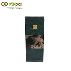 Eco friendly 3 layers laminated side gusseted roasted coffee packing kraft paper coffee packaging bags with valve