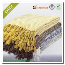 Acrylic Cheveron Fringed Sofa Throw