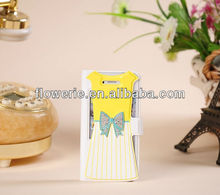 FL2424 2013 Guangzhou hot selling beautiful diamond girl dress wallet leather case for iphone 5 5G