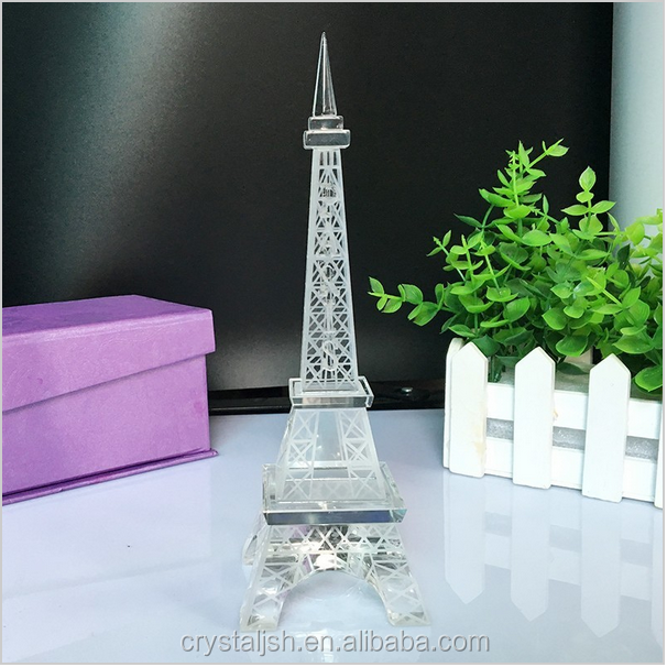 whoelsale cheap crystal glass travel souvenirs crystal eiffel tower souvenir gifts for family