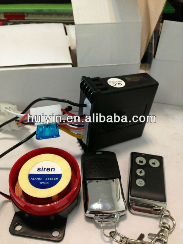 12V motorcycle alarm system with remote start