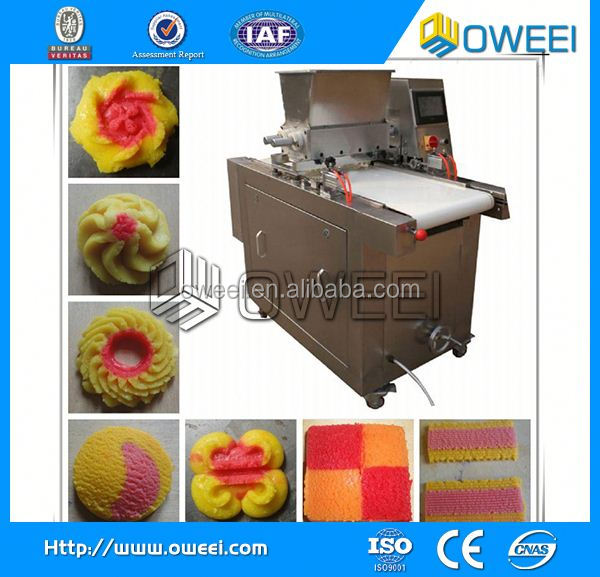 PLC contol commercial cookie forming machine /small biscuit depositor machine / cookies molding production machine for sale