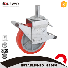 Longway high quality PU wheel plain bearing greenhouses scaffold caster