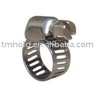 Mini american type stainless steel worm drive hose clamp with bandwidth 8mm