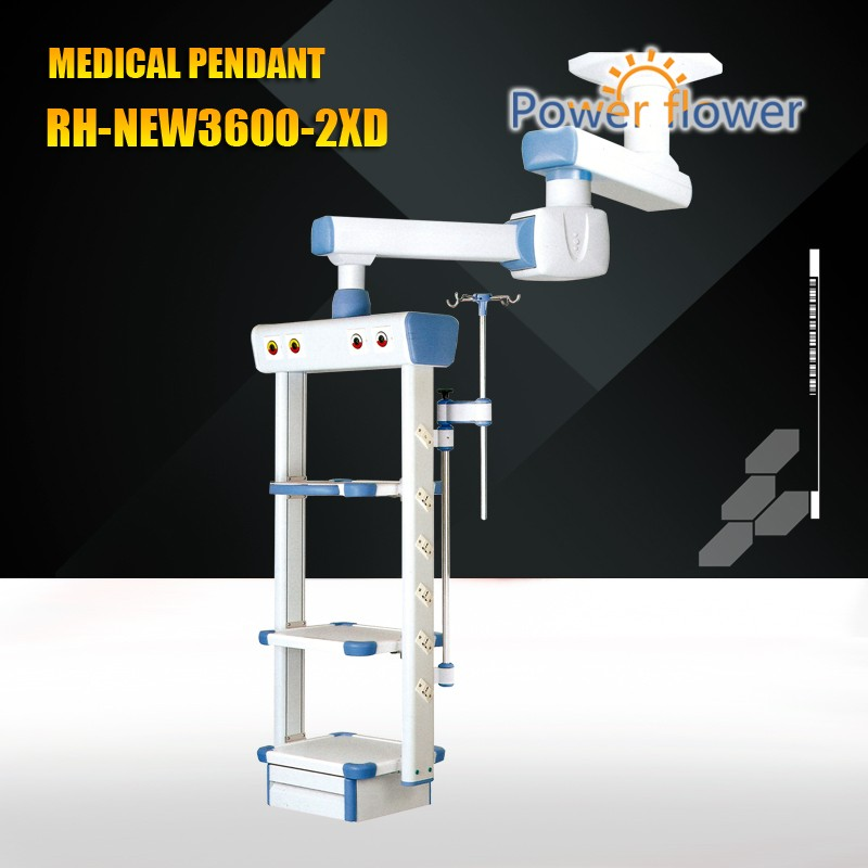 Meidcal Pendant from CE,FDA,ISO 13485 certificates approved factory:RH-NEW3600-2XD double arm electric ceiling medical pendant