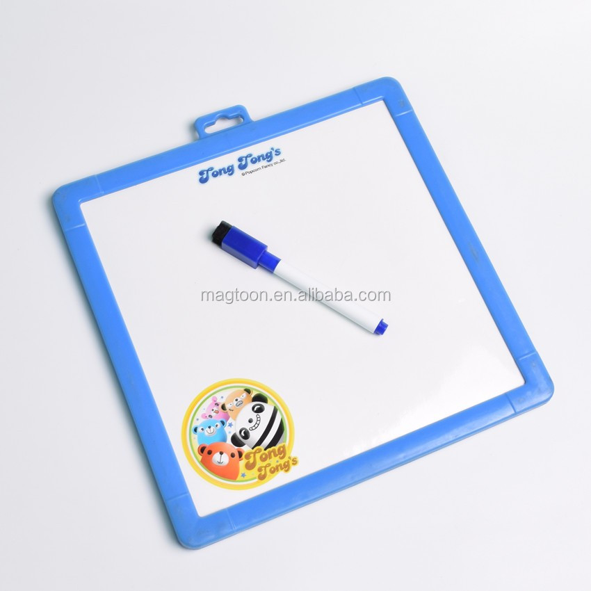 2016 new hot customised magnetic writing white board for kid