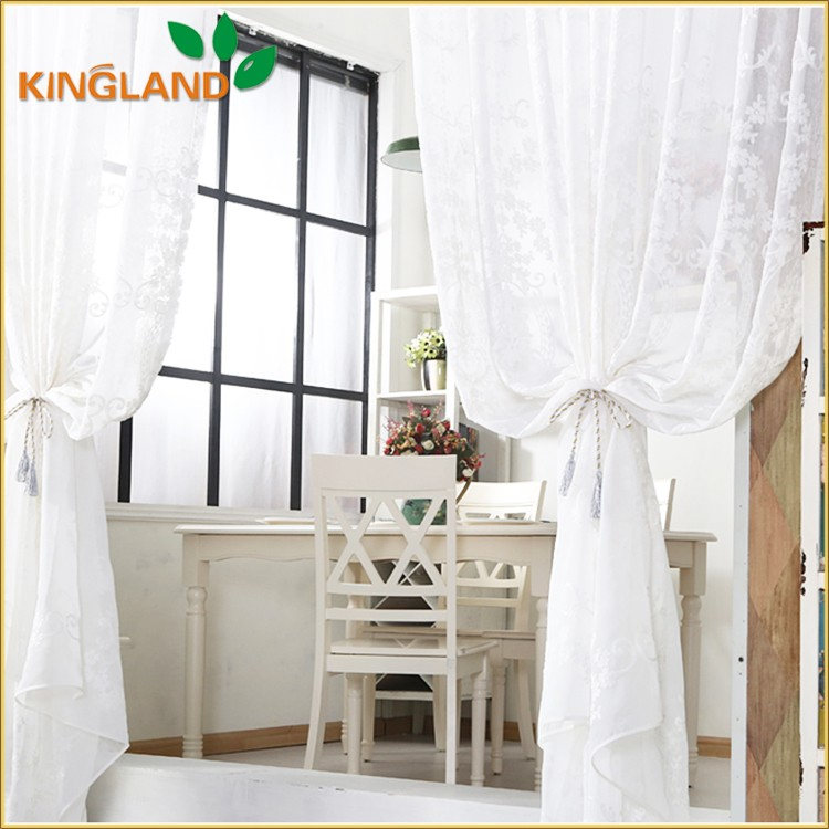 Embroidery Design Luxury Hotel Curtains