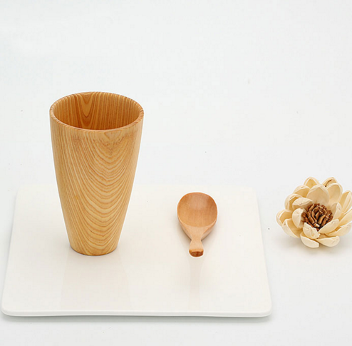 High Quality Wood Mug Coffee Tea Drinking Cup Beer Mugs Eco-Friendly Japanese Tableware Wooden Cups Natural Wood Cup Mug