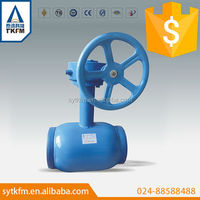corrosion resisting underground gear operated full welded ball valve with long stem