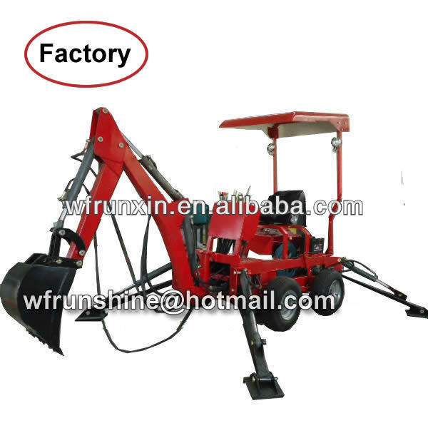 Mini towable 22HP engine backhoe/excavator