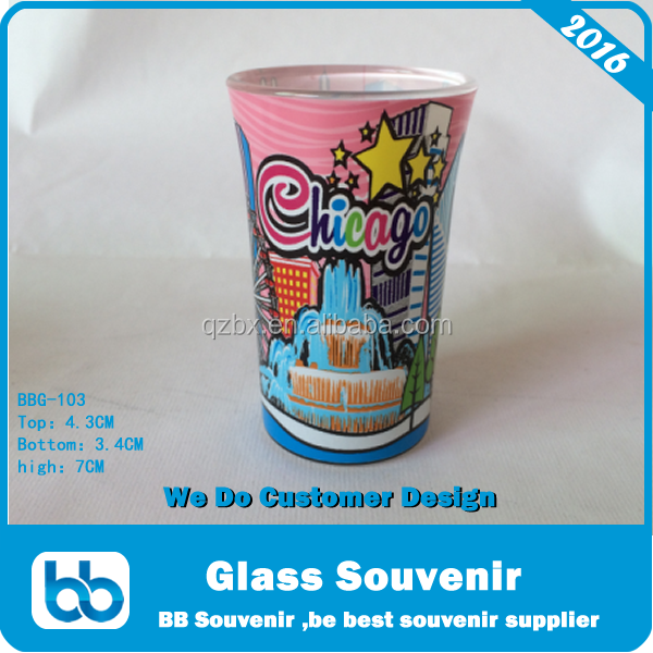 2016 Chicago Souvenir, Chicago souvenirs tourist ,Chicago Shot Glass
