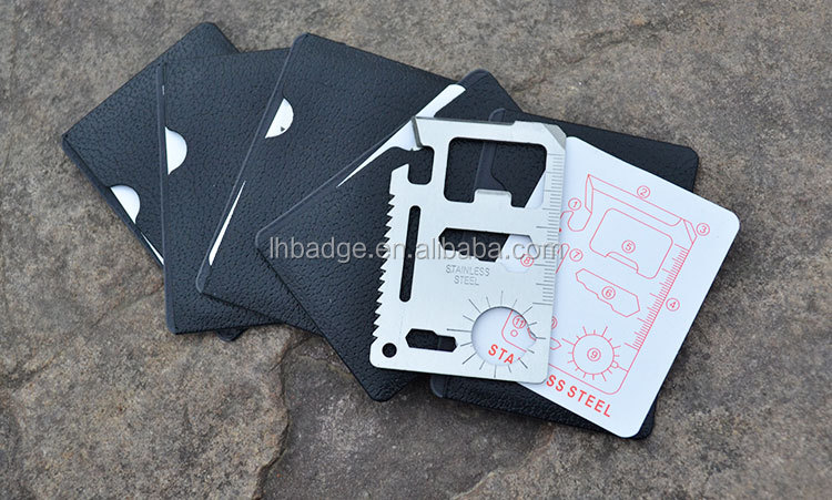 stainless steel multitool card, metal multitool card