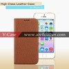 Genuine Leather Real Cow-Hide Folio Handcrafted Case Cover for iphone 5 5s 5c case with card slot