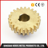 Small brass gears for CNC machining