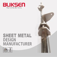 ODM extendable sheet metal curtain rod bracket