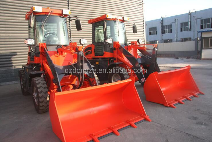 New farm equipment 1.2tons wheel loader with 0.45cbm bucket