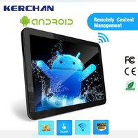 15.6 Inch wall mounted android tablet 4gb ram ,activated lcd ad screen