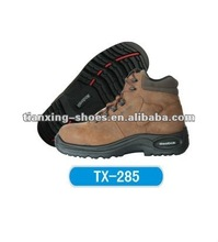 crazy horse leather steel toe safety shoes
