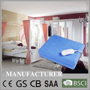 220-240V Salable CE/GS/CB/BSCI/SAA Approved Washable Electric Blanket/Electric heater