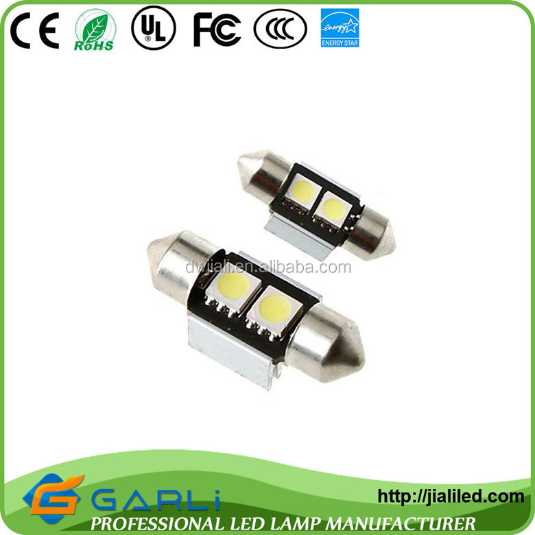 c5w canbus festoon 2smd5050 super white 31mm 36mm 42mm 12vdc dome car roof interior lamp bulb