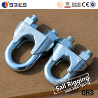 rigging hardware din741 galvanized wire rope clips